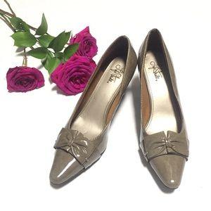 Life Stride Gray Hi Heel Pumps  Shoes